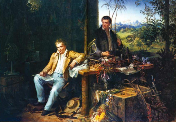 Humboldt_and_Bonplant_in_the_Jungle_am Orinoco_Eduard_Ender_1856_Von Eduard Ender - Red Redial.jpg